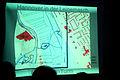 2012-05-09 (17) Projektion des Stadtplanes von 1927 über 2012 zum Standort der Bismarcksäule in Hannover.jpg