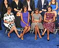2012 DNC day 3 Barack Obama (7959767102) family listening to his speech.jpg