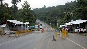 Chaloem Phra Kiat District, Nan - Huai Kon border crossing between Thailand and Laos