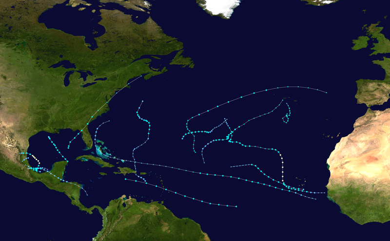File:2013 Atlantic hurricane season summary map.png