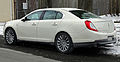 2013 Lincoln MKS AWD facelift, rear view.jpg