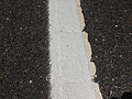 2014-08-29 12 52 51 Fresh white road paint laid on top of old and weather white road paint on Tabernacle-Chatsworth Road (Burlington County Route 532) in Woodland Township, New Jersey.JPG