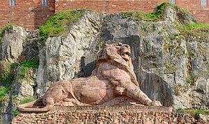 Siege of Belfort - The Lion of Belfort monument by Frédéric Bartholdi which commemorates the Siege of Belfort.