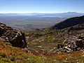 2014-09-24 09 17 47 View southeast across Lizzie's Basin and Clover Valley from a chute on the east side of Hole-in-the-Mountain Peak in the East Humboldt Range, Nevada.JPG