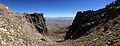 2014-09-24 13 42 47 Panorama east across Lizzie's Basin and Clover Valley from the chute on the east side of Hole-in-the-Mountain Peak, Nevada.JPG
