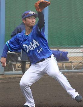 20140202 Masayoshi Kato, infielder of the Yokohama DeNA BayStars, at Yokohama DeNA BayStars Baseball Integrated training field (2).JPG