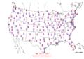 2015-10-07 Max-min Temperature Map NOAA.png