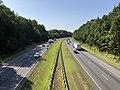 2019-07-25 09 37 58 View south along Interstate 97 (Patuxent Freeway) from the overpass for the ramp from southbound Interstate 97 to Maryland State Route 178 in Waterbury, Anne Arundel County, Maryland.jpg