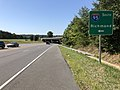 2019-08-12 10 33 14 View south along U.S. Route 1 (Jefferson Davis Highway) at the exit for Interstate 95 SOUTH (Richmond) in Fourmile Fork, Spotsylvania County, Virginia.jpg
