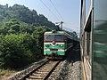 201908 SS3-4372 hauls Freight Train at Yakou Station.jpg
