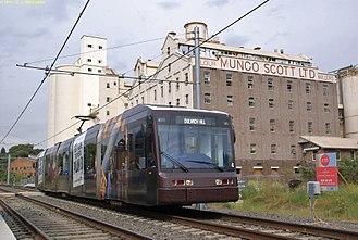 Lewisham, New South Wales - Light rail service departing Lewisham West station
