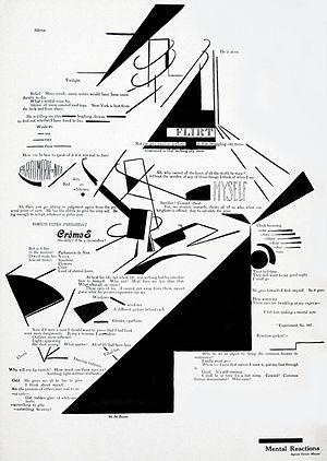 "291 (magazine) - ""Mental Reactions"", poem by Agnes Ernst Meyer; design by Marius de Zayas (published in 291, No. 2, 1915)"