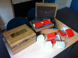 Long-term experiment - A photo showing the components of the 500-year microbiology experiment