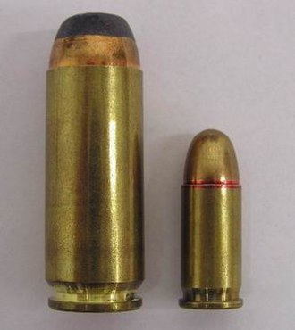 .50 Action Express - Image: 50 AE and 32 ACP