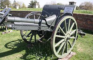 Krupp 7.5 cm Model 1903 - A Turkish 7.5cm Krupp field gun M1903