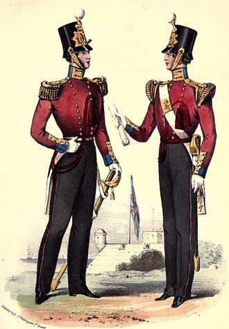 87th (Royal Irish Fusiliers) Regiment of Foot - Regimental uniform in 1853