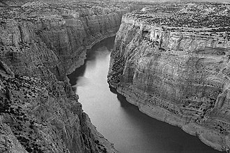 Bighorn River - The river carves a canyon through Bighorn Canyon National Recreation Area