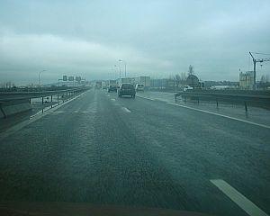 A15 autoroute - The A15 on the Pont de Genneviliers.