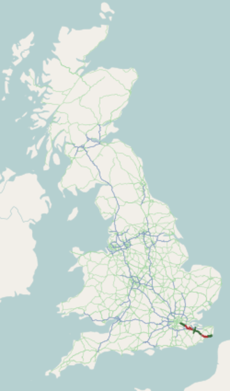 A20 road (England) - Image: A20 road map