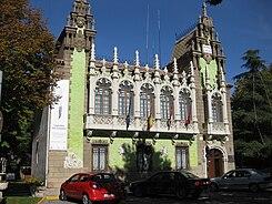 Papercraft building imprimible y armable de la Casa del Hortelano de Albacete, España. Manualidades a Raudales.