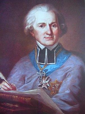 Adam Naruszewicz - Portrait by Mateusz Tokarski (1747-1807)