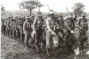 58th Battalion (Australia) - Men from the 58th/59th Battalion in the Ramu Valley, January 1944