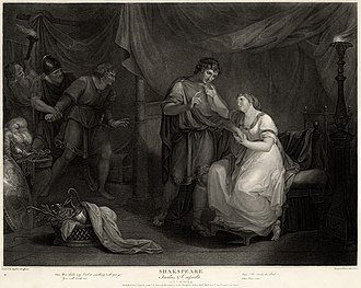 Troilus and Cressida - Troilus and Cressida, Act V, Scene II. 1795 engraving by Luigi Schiavonetti after a painting of 1789 by Angelica Kauffman.