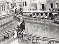 A canal in Venice being drained and cleaned using a Decauville railway 03.jpg