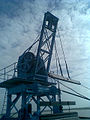 A crane at Osmansagar Dam in Gandipet.jpg