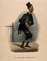 A poor man suffering from indigestion. Coloured lithograph b Wellcome V0011754.jpg