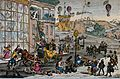 A street scene with people and carriages deep in mud Wellcome V0040884.jpeg