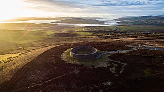 Grianan of Aileach - Sunset over the fort