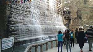 Rock Garden of Chandigarh - A waterfall in rock garden