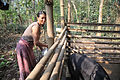 A woman prepares feed for her pigs in Nagaland.jpg