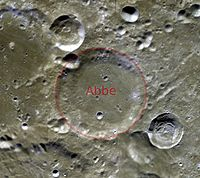 Abbe crater clementine color albedo