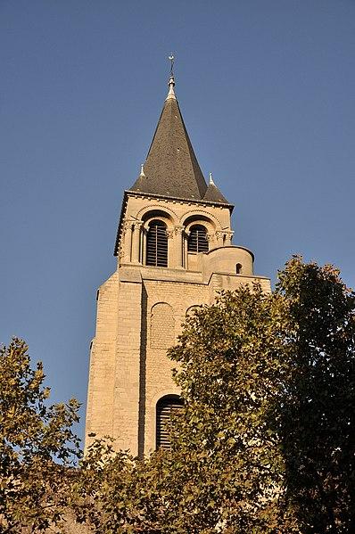 Abbey of Saint-Germain-des-Prés in the 6th arrondissement of Paris, France.