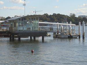 Abbotsford ferry wharf - Wharf in July 2007
