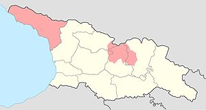 map of Georgia with Abkhazia and South Ossetia...