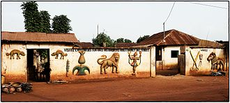 Zou Department - Abomey royal palace wall