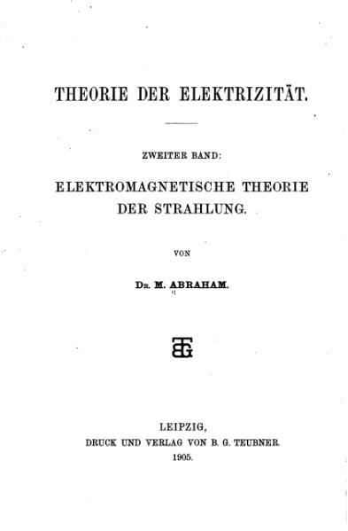 File:AbrahamElektromagnetismus1905.djvu