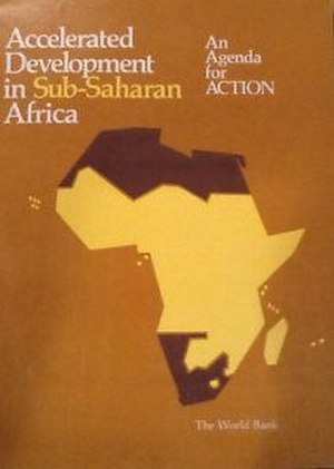 Berg report - Cover of Accelerated Development in Sub-Saharan Africa, World Bank report published in 1981