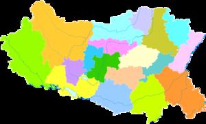 Handan - Image: Administrative Division Handan 2