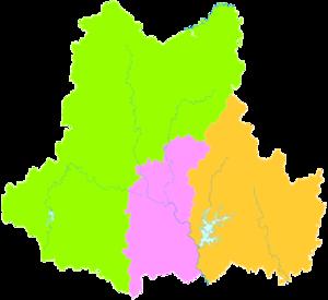 Suizhou - Image: Administrative Division Suizhou