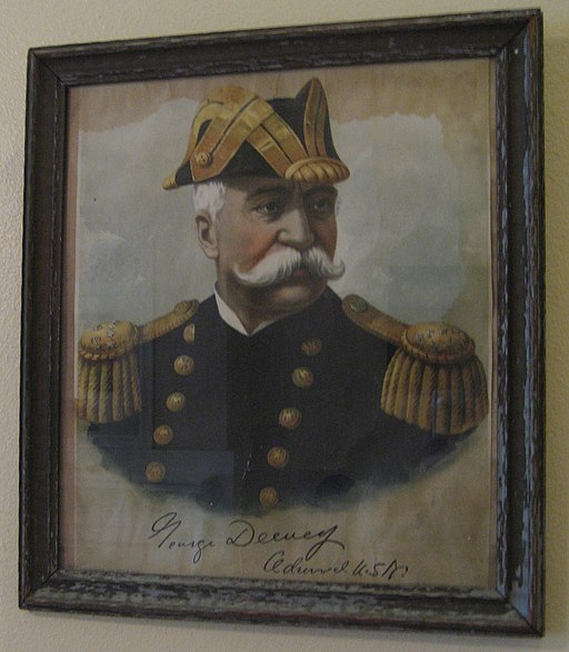 Admiral Dewey on the Wall in New Orleans