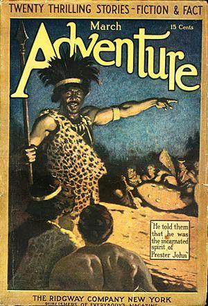 Prester John (novel) - Prester John was serialized in Adventure in 1911