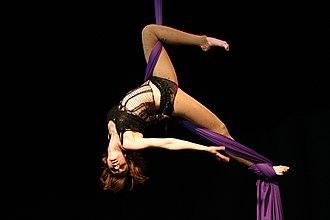 Aerial silk - Aerial silk performer