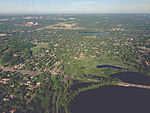 Aerial South Minneapolis - Lake Nokomis, Cedar Avenue, and Diamond Lake (23950602551).jpg