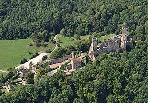 Rötteln Castle - Image: Aerial View Burg Rötteln 7