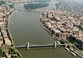 Aerial photograph of Margaret Bridge and Budapest Chain-Bridge 01.jpg