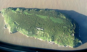 Steep Holm - Aerial view of the island